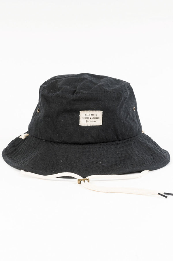 Thrills Waxed Wide Brim Bucket Hat