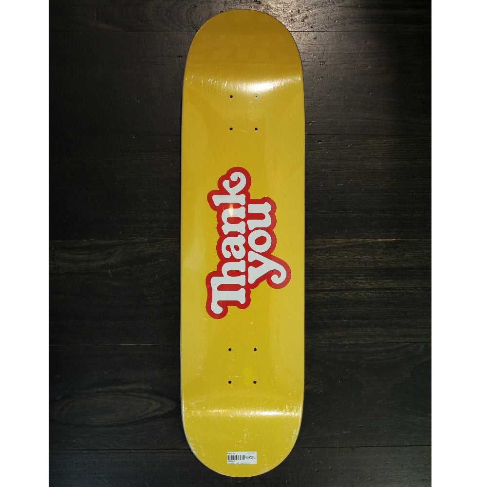 Thankyou Deck Logo Yellow 8.125