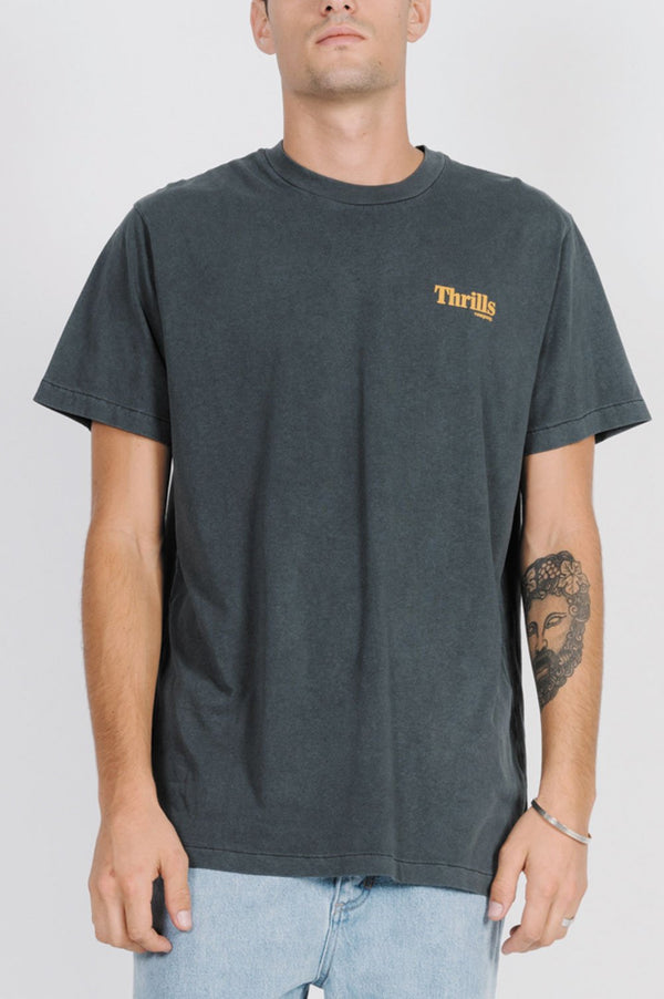 Thrills Mens Cycles & Cloth Merch Fit SS Tee - Front