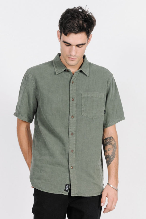 Thrills Mens Dril SS Shirt - Front