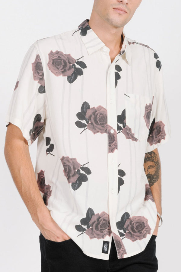 Thrills Mens Rose Lens SS Shirt - Side