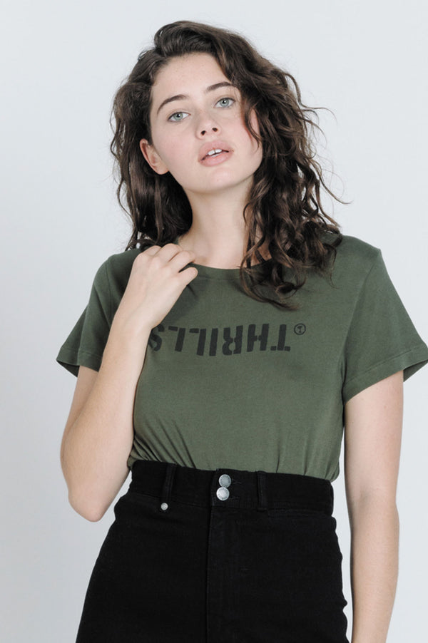 Thrills Ladies Mash Band SS Tee - Front