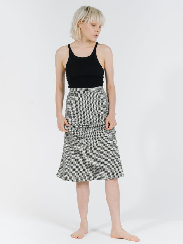 Thrills Ladies Quad Check Bias Skirt