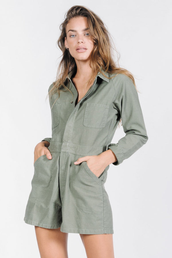 Thrills Ladies Deploy Tab Romper - Front