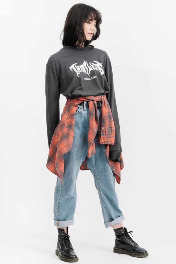 Thrills Axe Crop LS Tee - Right