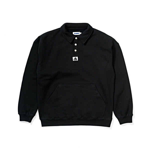 X-Large Mens 1/4 Button Crew