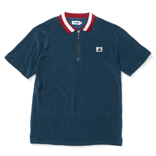 X-Large Mens Terry 1/4 Zip Polo Shirt