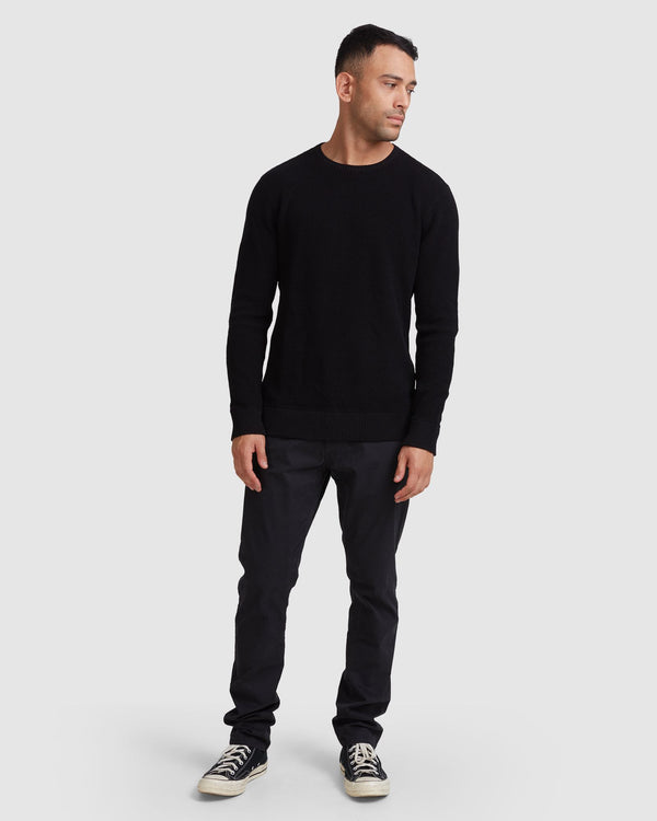 RVCA Mens Carded Waffle Crew