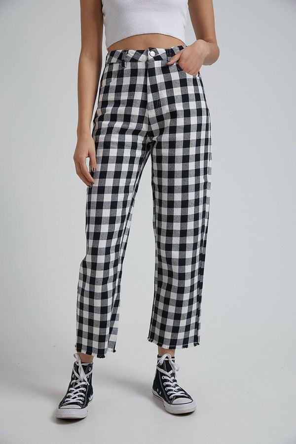 Afends Ladies Shelby Gingham Twill Pant