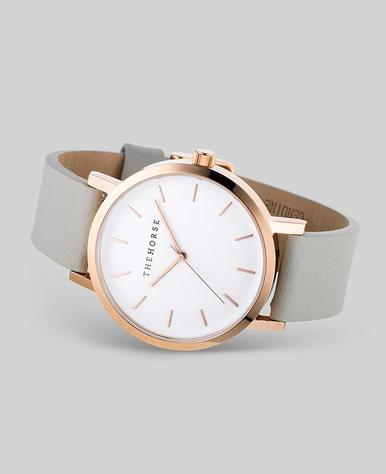 The Horse Original Watch- Rose Gold/White/Grey