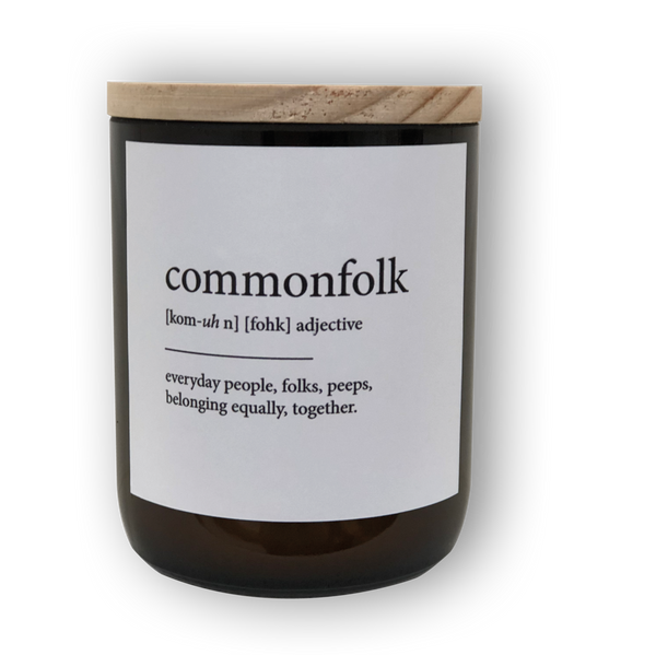 The Commonfolk Collective Dictionary Meaning Commonfolk Candle