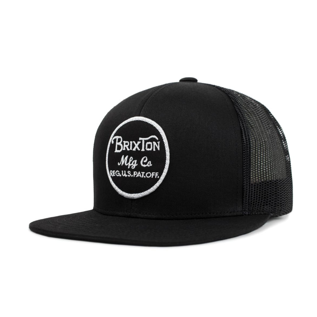 Brixton Wheeler Mesh Hat- Black