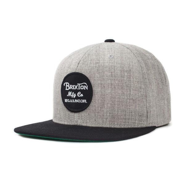 Wheeler Snapback Hat- Grey/Black