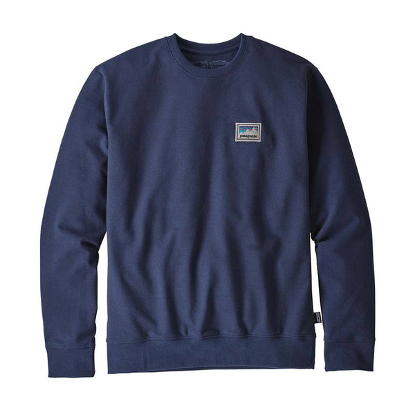 Patagonia Mens Shop Sticker Uprisal Crewneck - Front