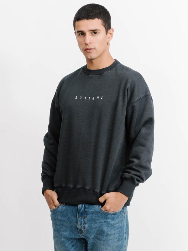 Thrills Mens Minimal Thrills Slouch Crewneck - Left