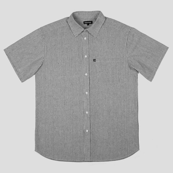 Pass~Port Mens Hickory SS Shirt - Front