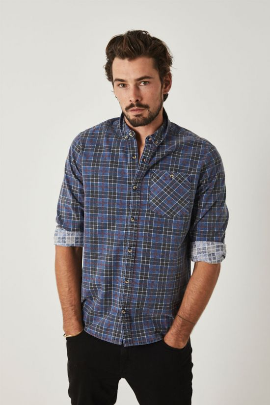 Rollas Mens Tradie Check LS Shirt - Front