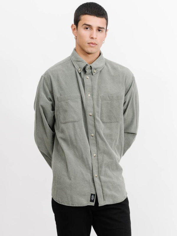 Thrills Mens Courier Oversized LS Shirt