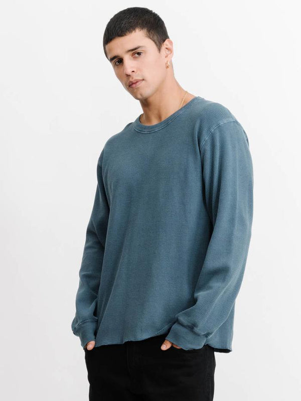 Thrills Mens Sign Off Waffle LS Tee