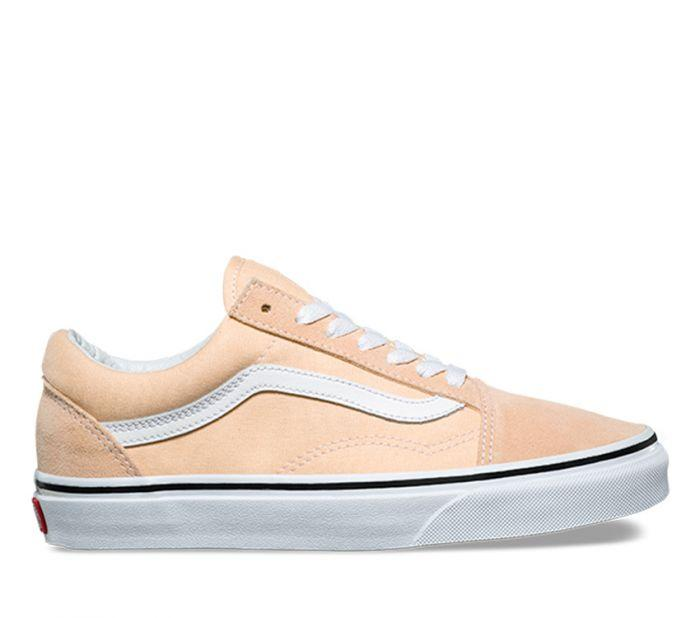 Vans Old Skool Shoes- Apricot/White