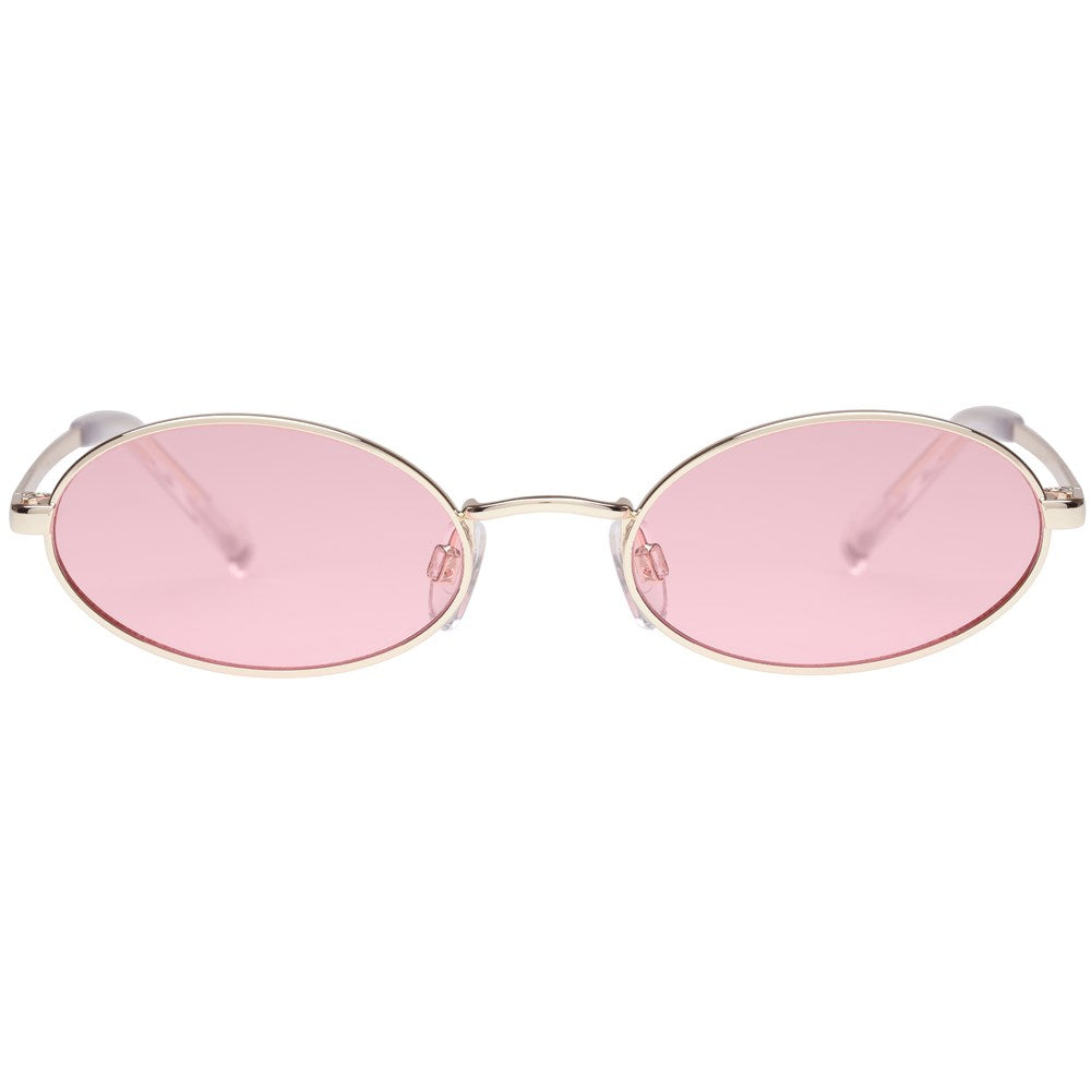 Le Specs Love Train Sunnies- Gold - Front