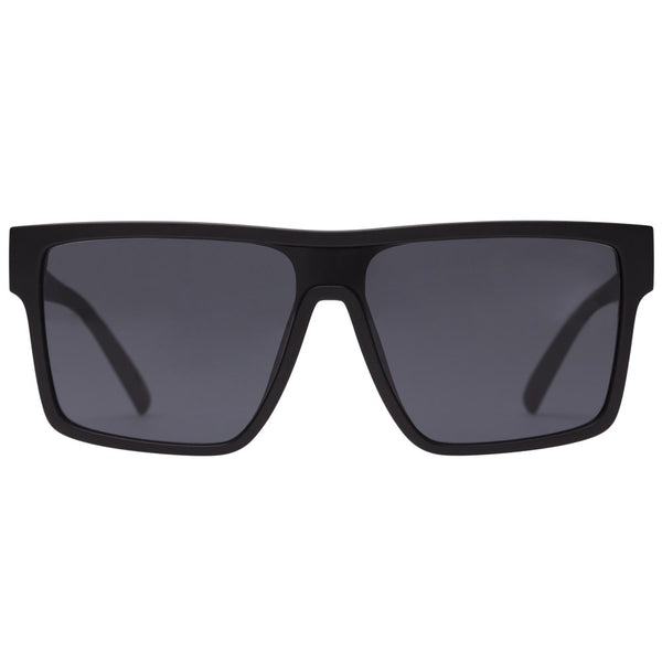 Le Specs Minimal Magic Sunnies- Matte Black - Front