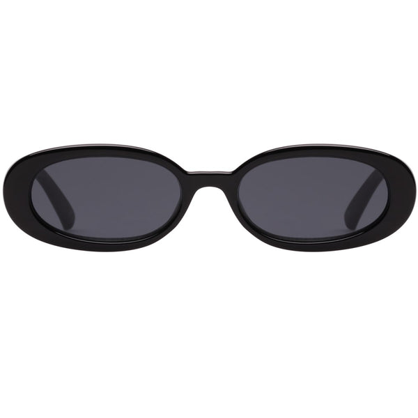 Le Specs Outta Love Sunnies- Black - Front
