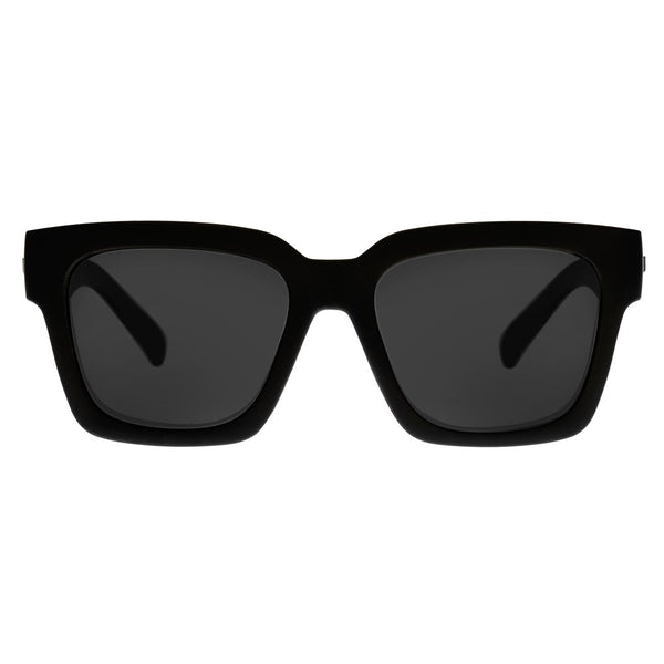 Le Specs Weekend Riot Sunnies- Black Rubber/Smoke Mono