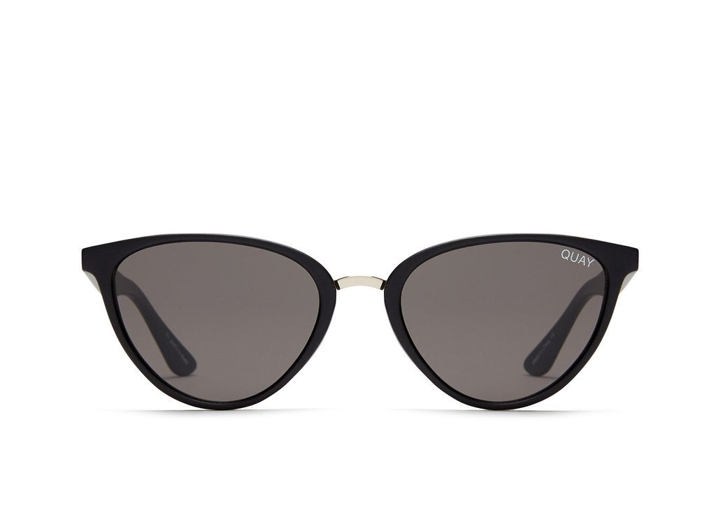 Quay Rumours Sunglasses- Black/Smoke