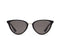 Quay Rumours Sunnies- Black/Smoke Lens - Front