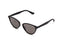 Quay Rumours Sunnies- Black/Smoke Lens - Left