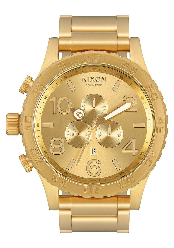 Nixon 51-30 Chrono- All Gold - Front