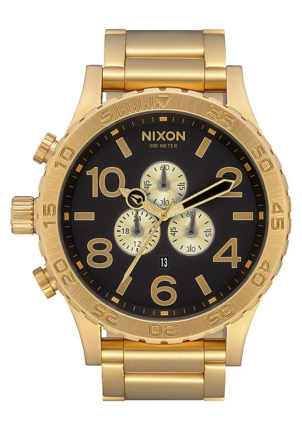 Nixon 51-30 Chrono- All Gold/Black - Front