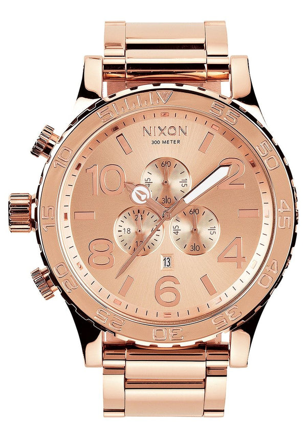 Nixon 51-30 Chrono Watch- All Rose Gold - Front