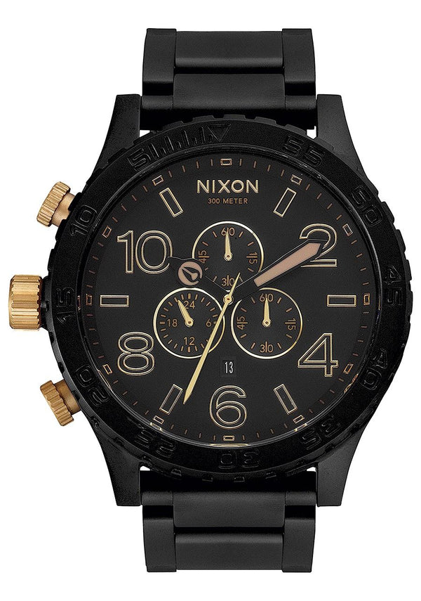 Nixon 51-30 Chrono- Matte Black/Gold - Front