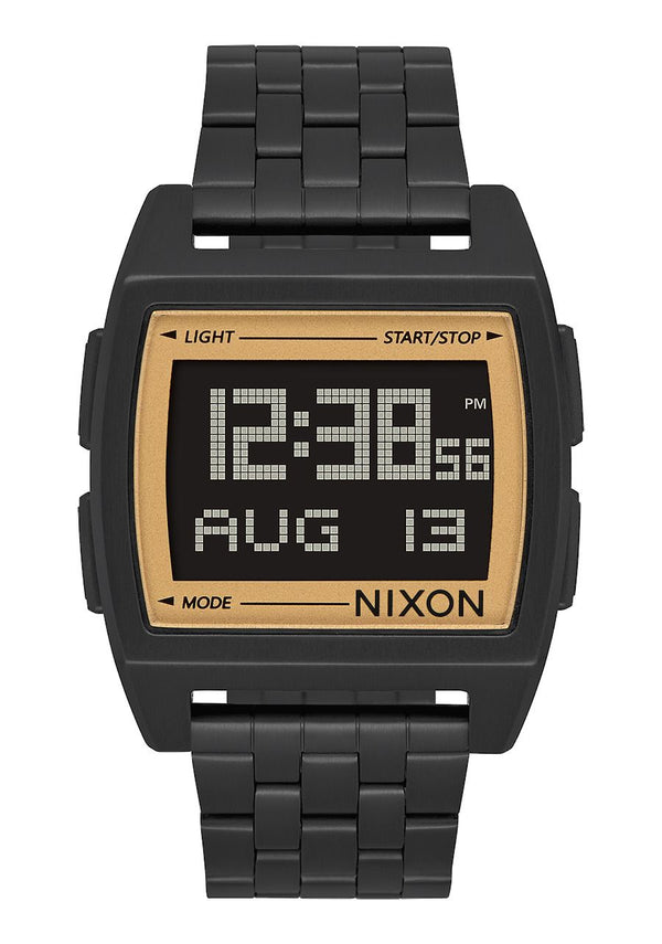 Nixon Base Watch- All Black/Gold - Front