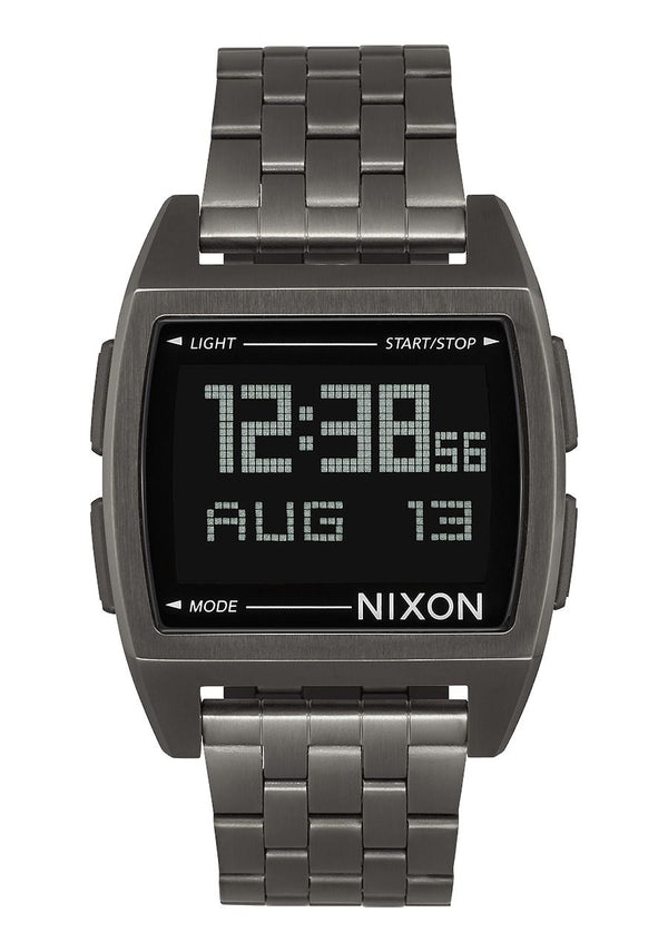 Nixon Base Watch- All Gunmetal - Front