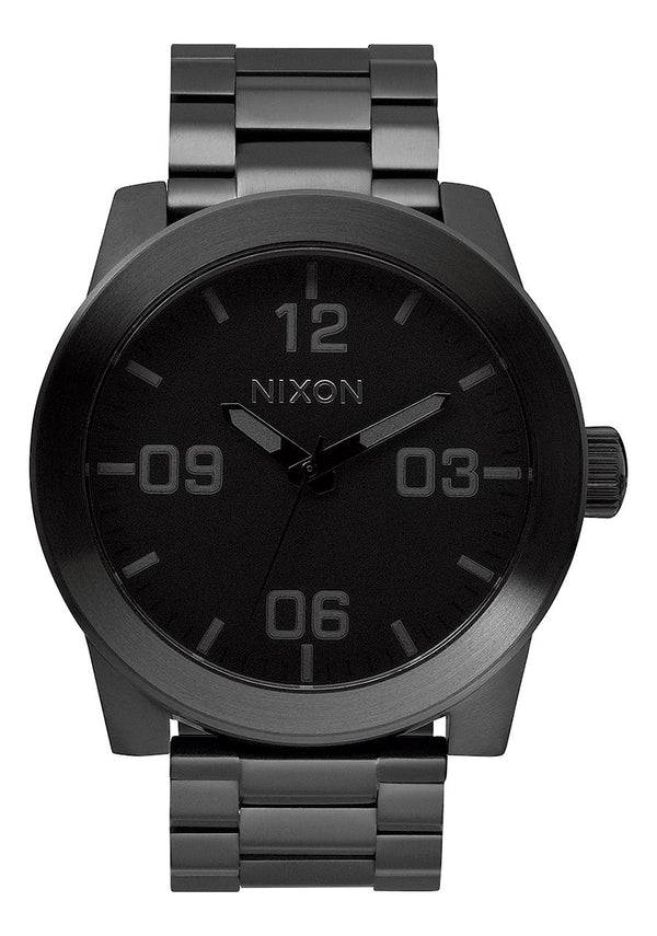 Nixon Corporal SS- All Black - Front