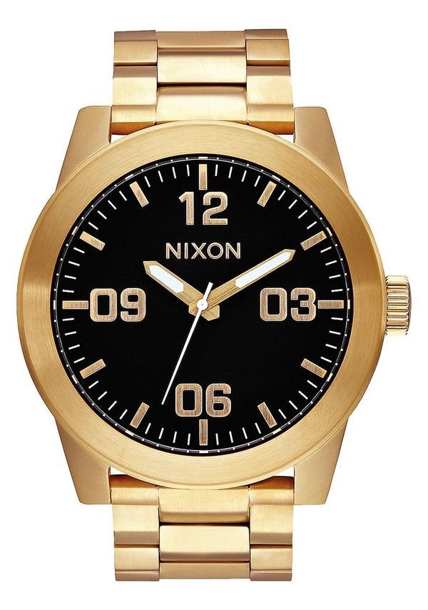 Nixon Corporal SS- All Gold/Black - Front