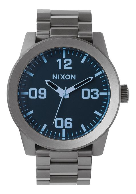 Nixon Corporal SS- Gunmetal/Blue Crystal - Front