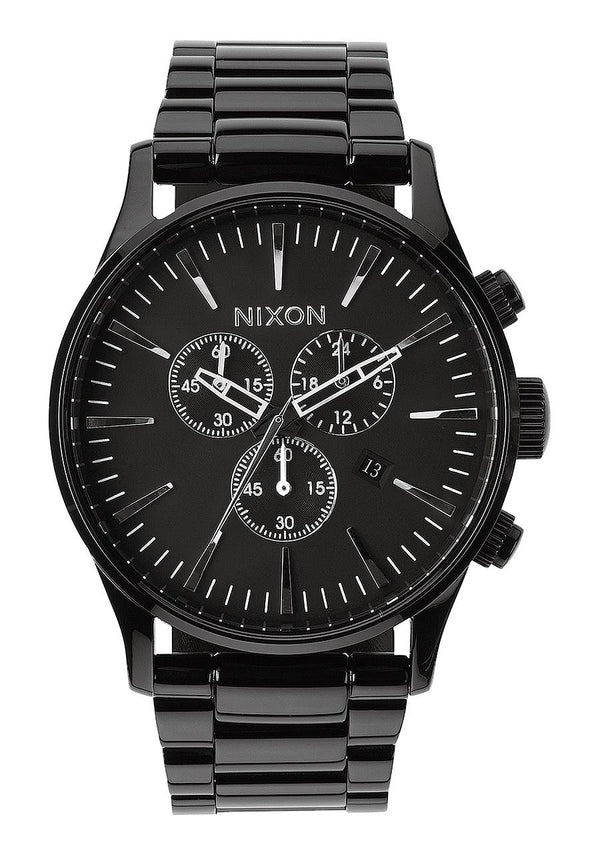 Nixon Sentry Chrono- All Black - Front