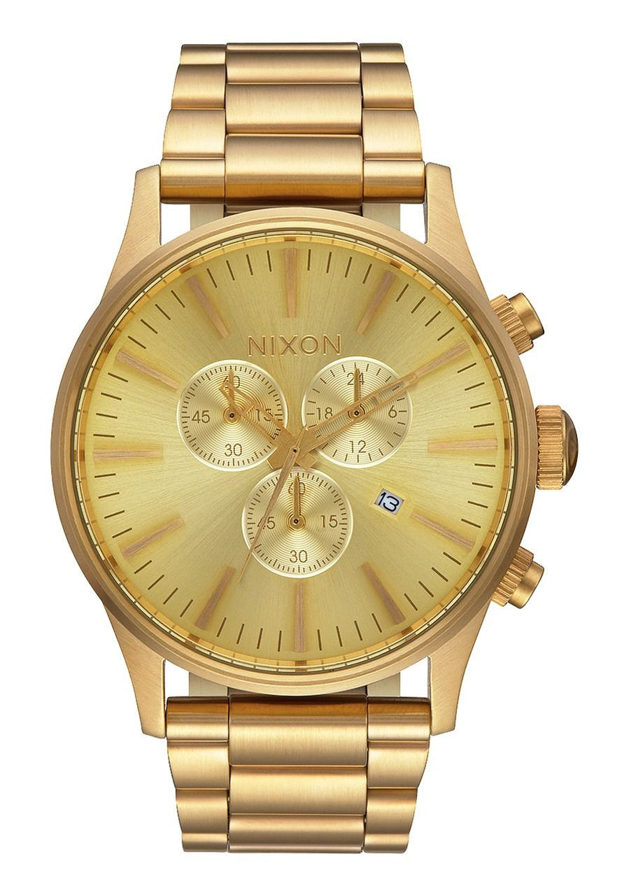 Nixon Sentry Chrono- All Gold - Front