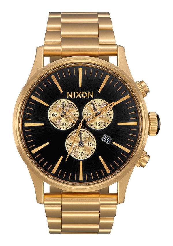 Nixon Sentry Chrono- All Gold/Black - Front