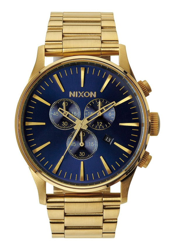 Nixon Sentry Chrono- Gold/Blue Sunray - Front