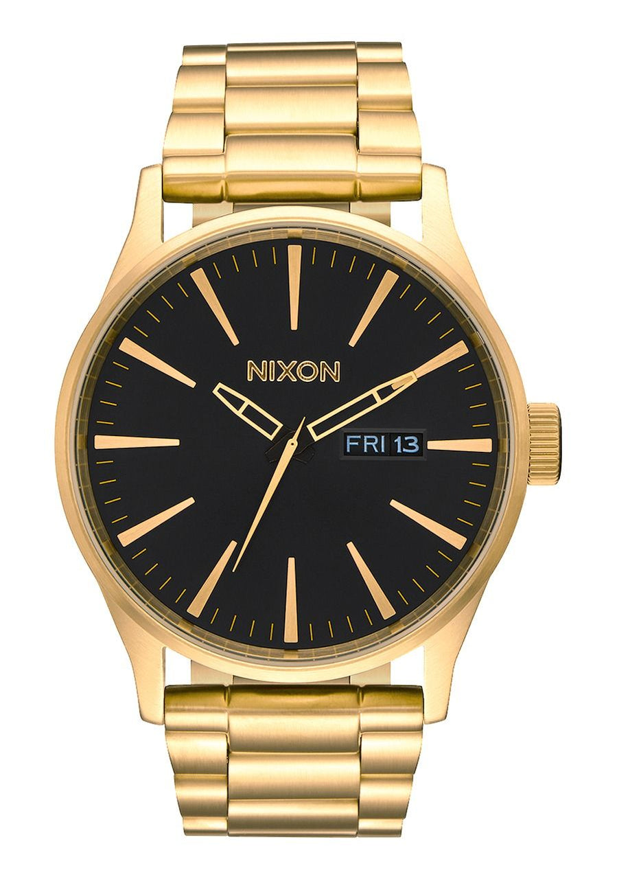 Nixon Mens Sentry SS- All Gold/Black - Front