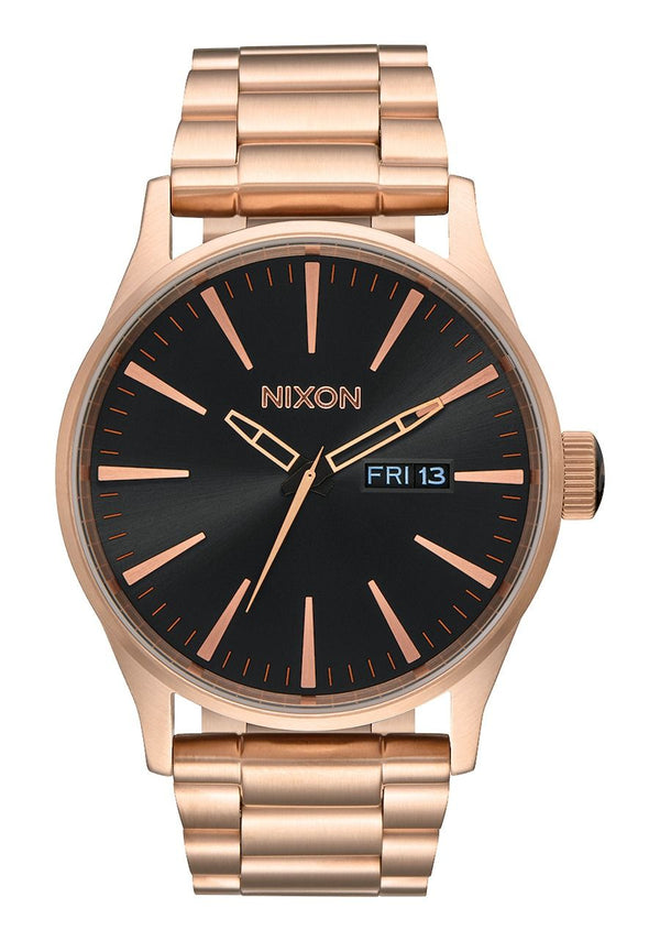 Nixon Sentry SS- All Rose Gold/Black - Front