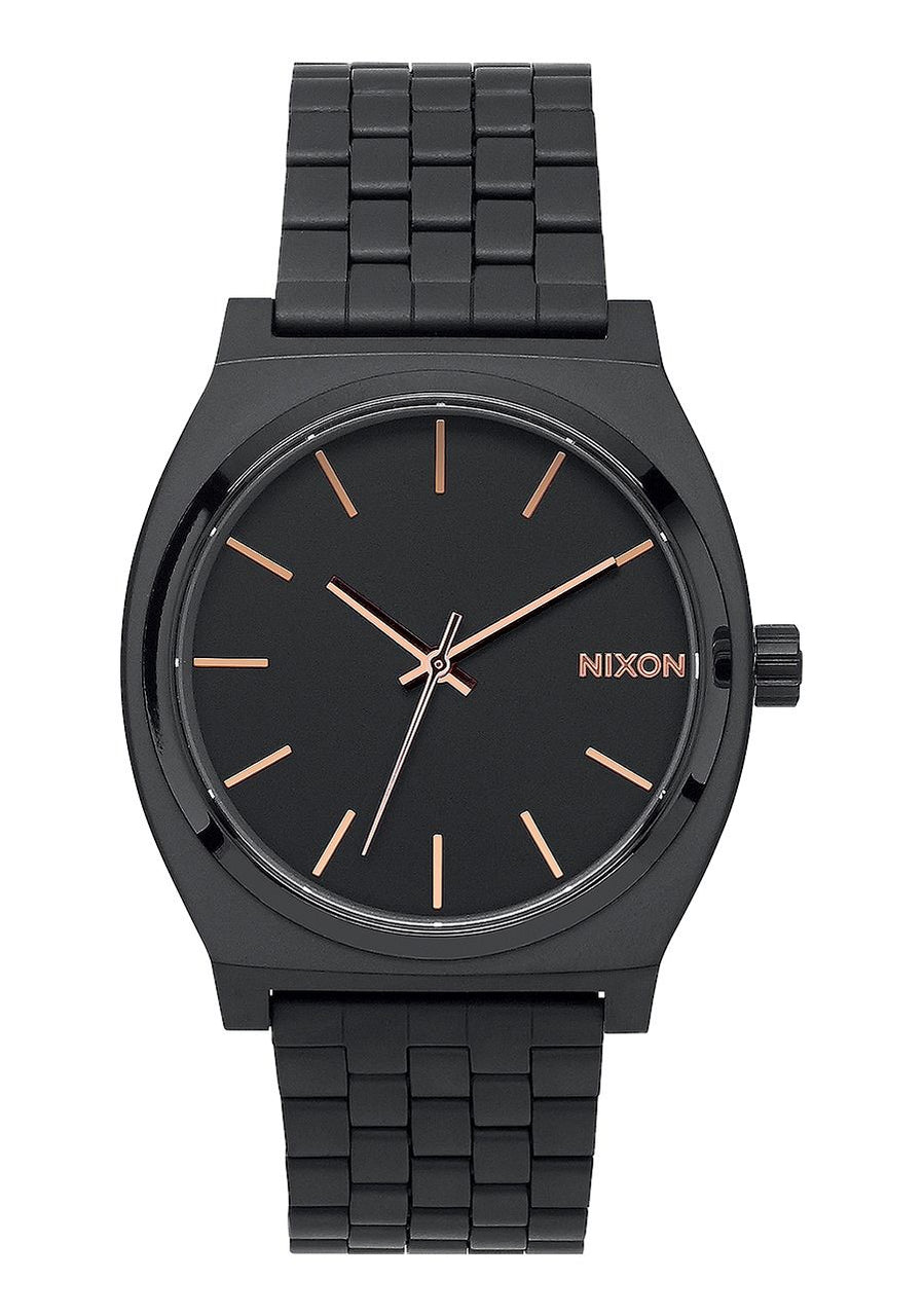 Nixon Time Teller- All Black/Rose Gold - Front