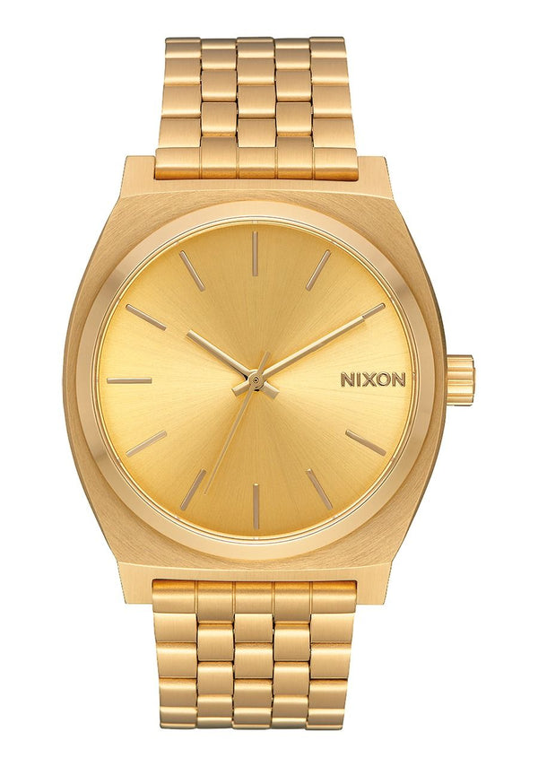 Nixon Time Teller Watch- All Gold - Front