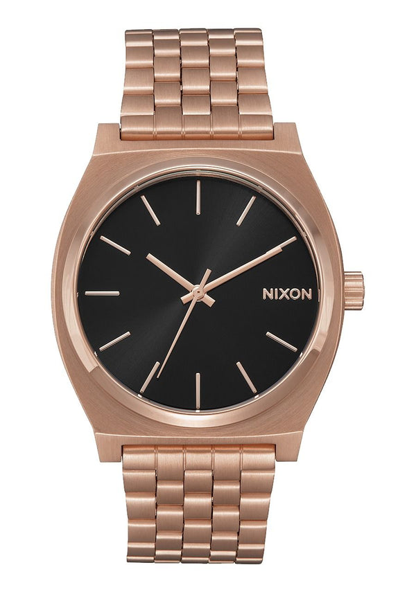 Nixon Time Teller- All Rose Gold/Black Sunray - Front