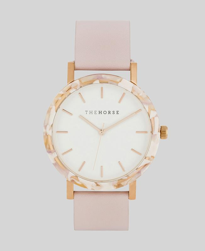 The Horse Resin Watch- Nougat Pink/White/Baby Pink